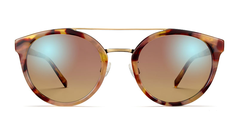 Warby Parker Laney Sunglasses in Adobe Tortoise with Polished Gold $145