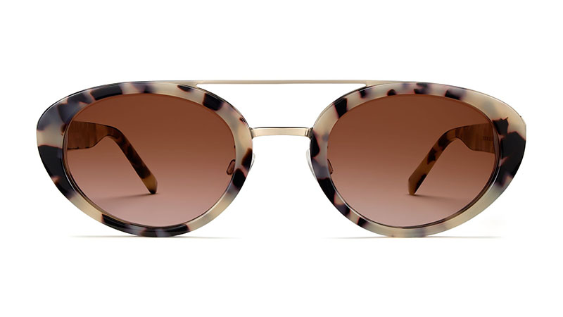 Warby Parker Sylvie Sunglasses in Onyx Tortoise with Riesling $145