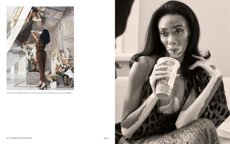 Winnie Harlow Wears Animal Prints in Harper's Bazaar Taiwan