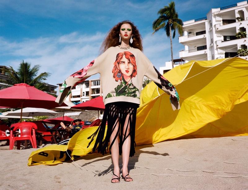 Sara Grace Wallerstedt stars in Zara Summer Packing 2019 lookbook