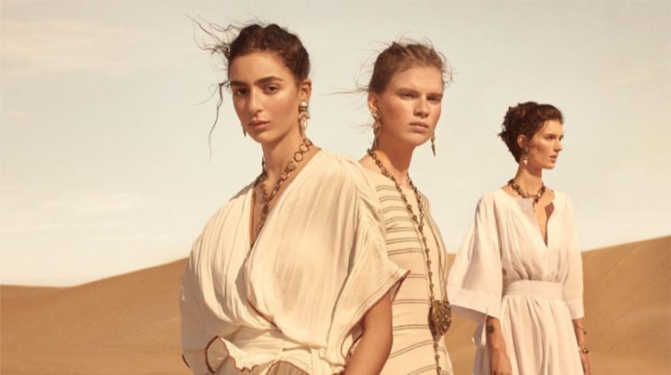 Nora Atal, Sara Eirud and Marte Mei Van Haaster star in Zara Collection spring-summer 2019 campaign