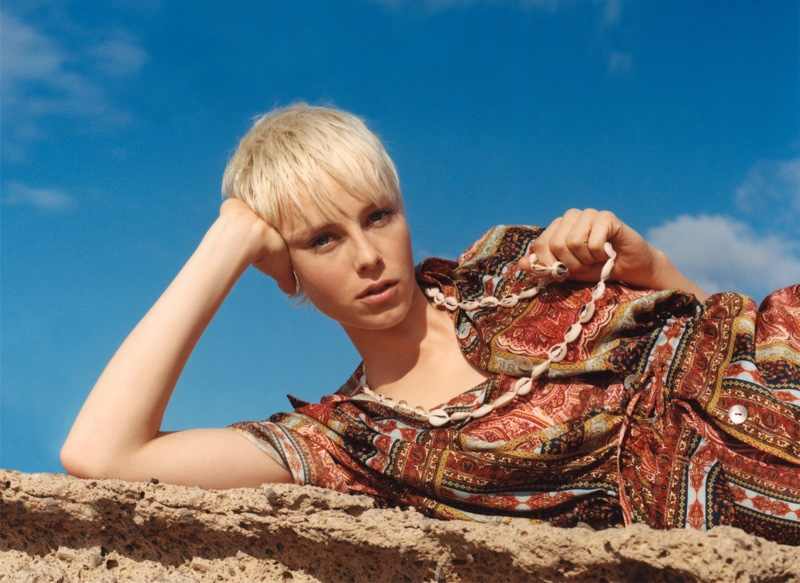 Edie Campbell Poses in Relaxed Spring Styles for Zara