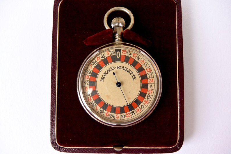 1910s Monaco Roulette Pocket Watch
