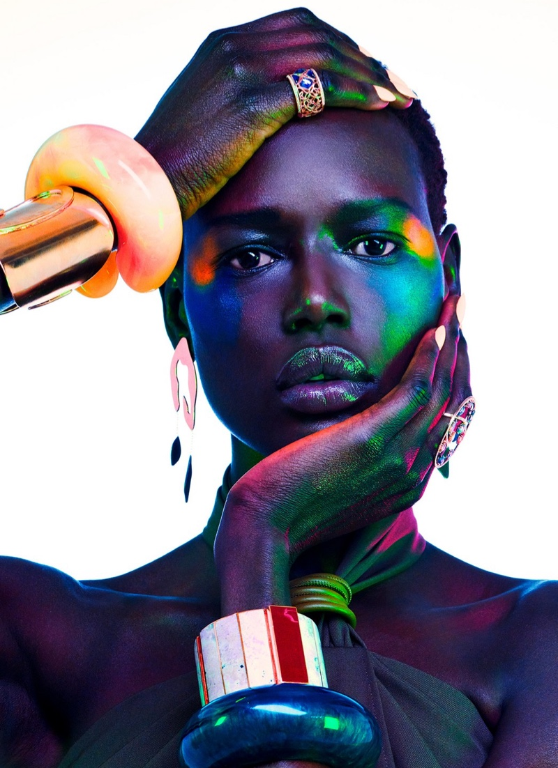 Ajak Deng Dazzles in Luxe Jewels for Vogue Portugal