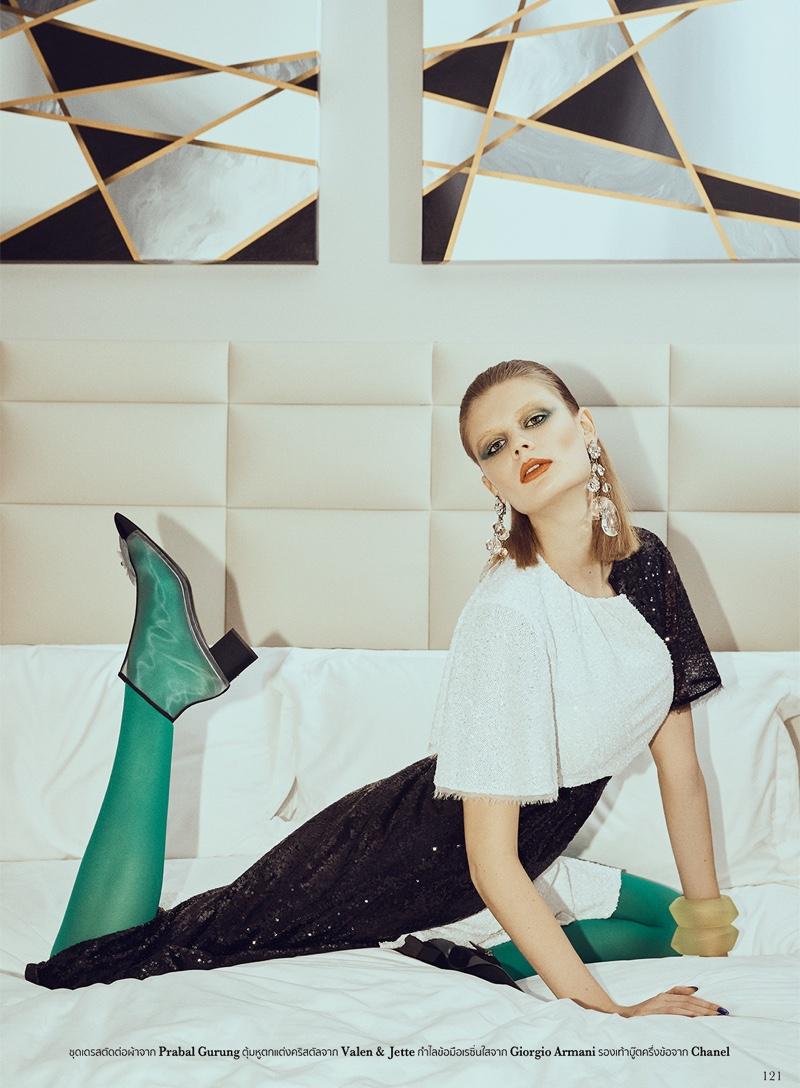 Alexandra Elizabeth Channels 1980's Luxe for L'Officiel Thailand