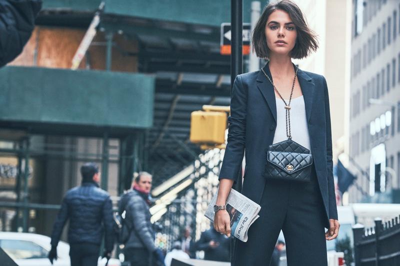 Anja Cihoric Models Office-Ready Looks for Grazia Italy