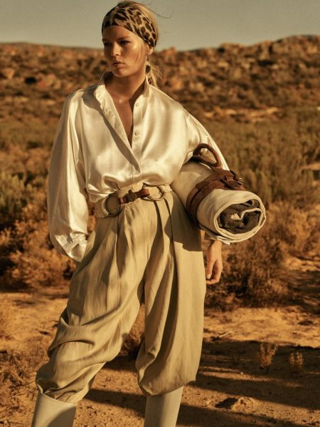 Anna Ewers Takes On Safari Style for Vogue Paris