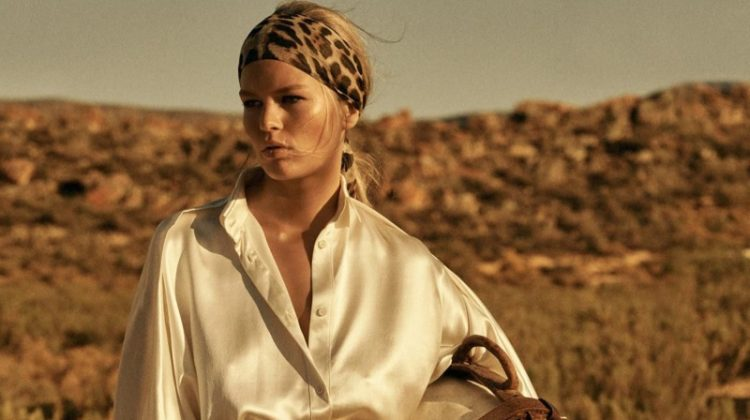 Anna Ewers Takes On Safari Style for Vogue Paris