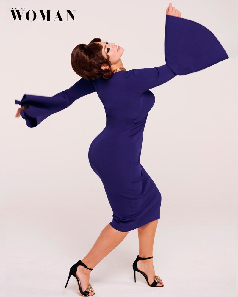 Ashley Graham Poses in Retro Styles for Emirates Woman