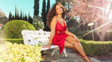 Looking red-hot, Ashley Graham poses in PrettyLittleThing spring 2019 collaboration