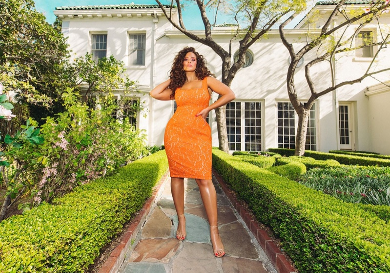 Model Ashley Graham wears look from PrettyLittleThing spring 2019 collaboration
