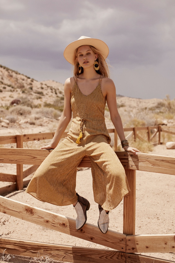 Lotta Maybelake wears jumpsuit from Band of Gypsies
