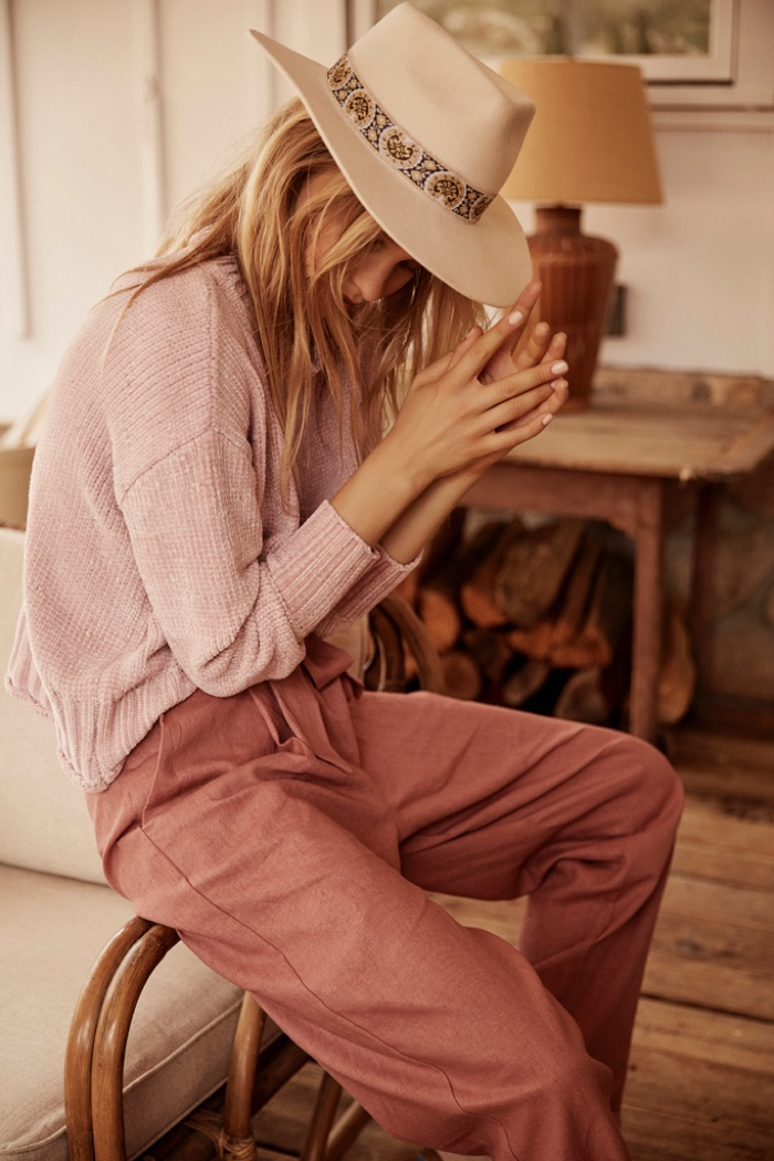 Wearing pink hues, Lotta Maybelake fronts Band of Gypsies spring-summer 2019 campaign