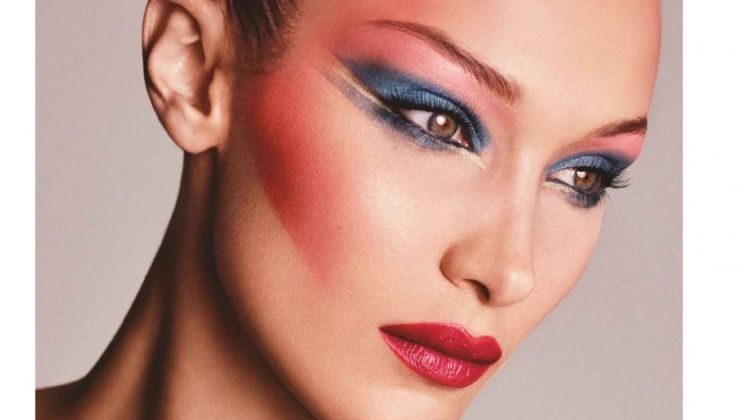Bella Hadid Turns Up the Shine Factor for Vogue Japan