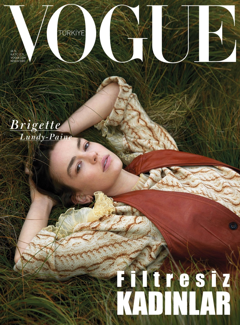 An Le photographs Brigette Lundy-Paine for Vogue Turkey April 2019 Cover