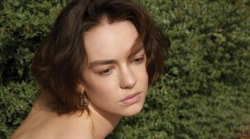 Actress Brigette Lundy-Paine poses outdoors for the photoshoot