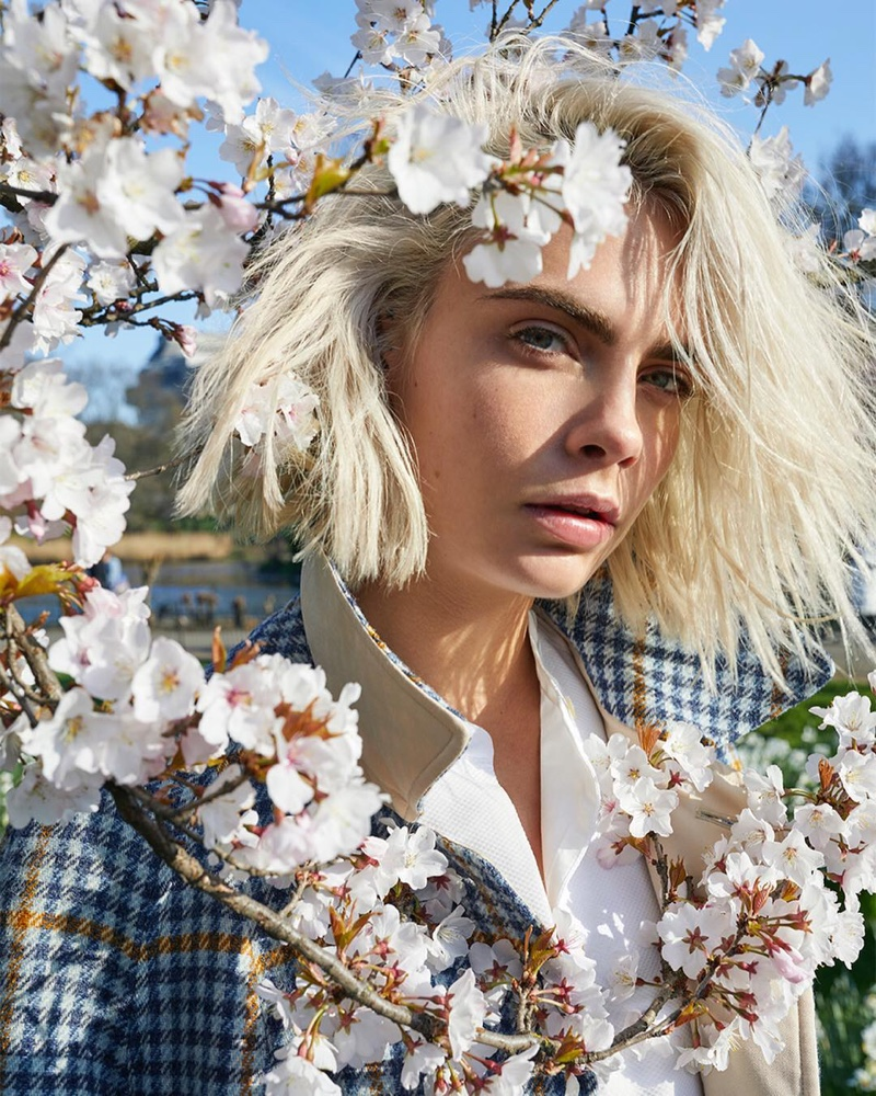 Cara Delevingne stars in Burberry Her Blossom fragrance campaign