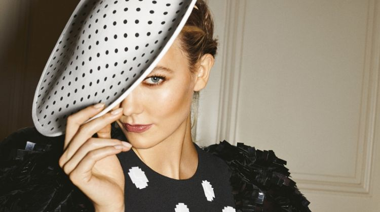 Karlie Kloss sports polka dots in Carolina Herrera Good Girl Dot Drama fragrance campaign