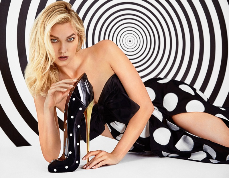 Karlie Kloss stars in Carolina Herrera Good Girl Dot Drama fragrance campaign