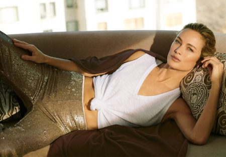 Carolyn Murphy & Joan Smalls Lounge in NakedCashmere Spring '19 Campaign