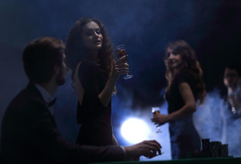 Casino Party Formal Black Attire Women
