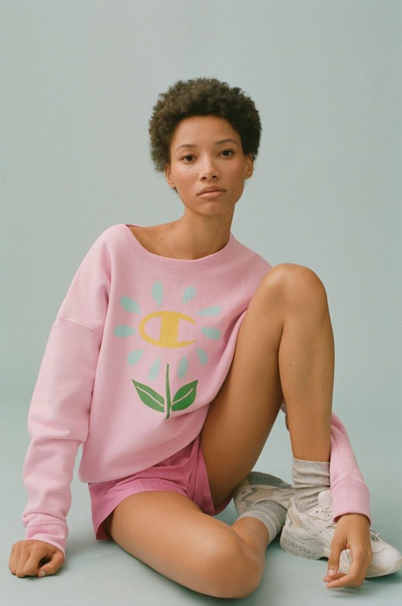 Champion x Susan Alexandra Flower Crew Neck Sweatshirt $69