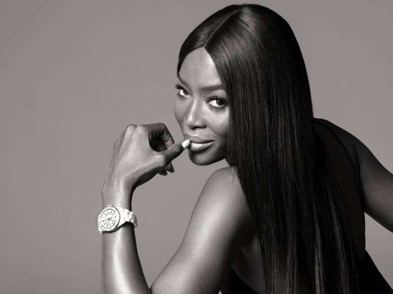 Supermodel Naomi Campbell appears in Chanel J12 Watch campaign