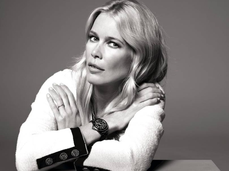 Claudia Schiffer stars in Chanel J12 Watch campaign