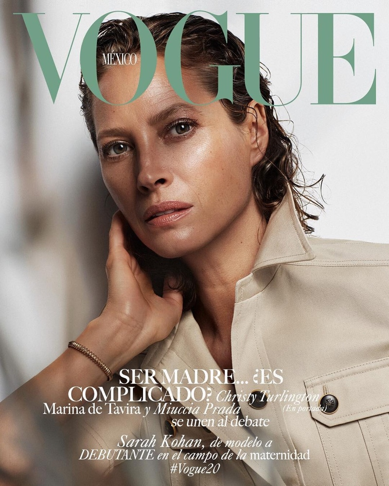 Supermodel Christy Turlington on Vogue Mexico May 2019 Cover