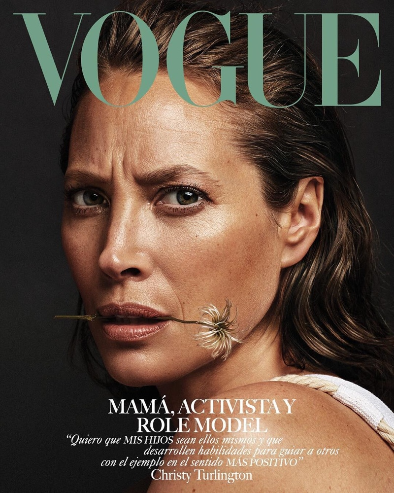 Christy Turlington on Vogue Mexico May 2019 Cover
