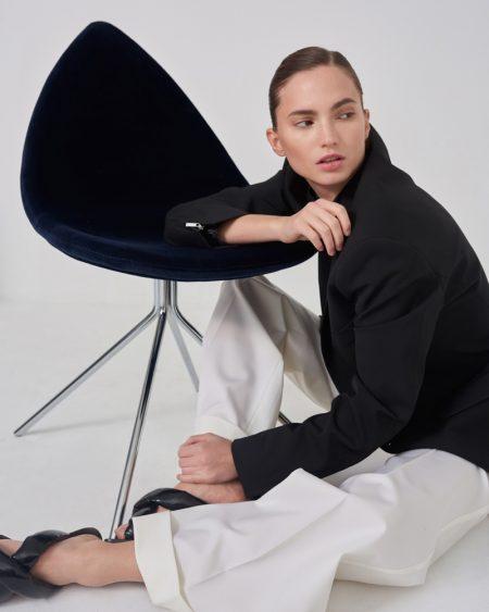 Dalia Gunther Wears Elegant Styles for Harper's Bazaar Czech