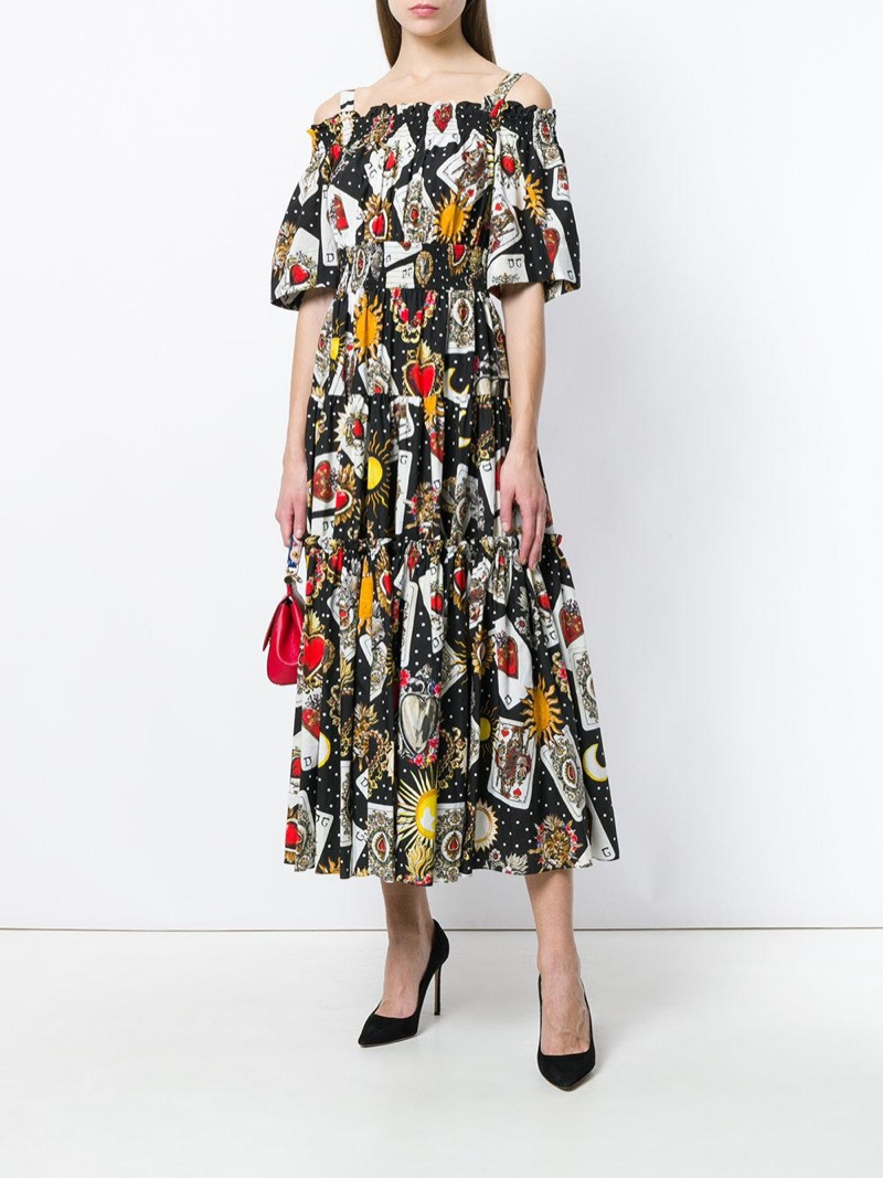Dolce & Gabbana Playing Cards Dress