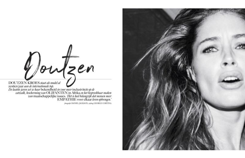 Doutzen Kroes Wears Stripped Down Styles in Vogue Netherlands