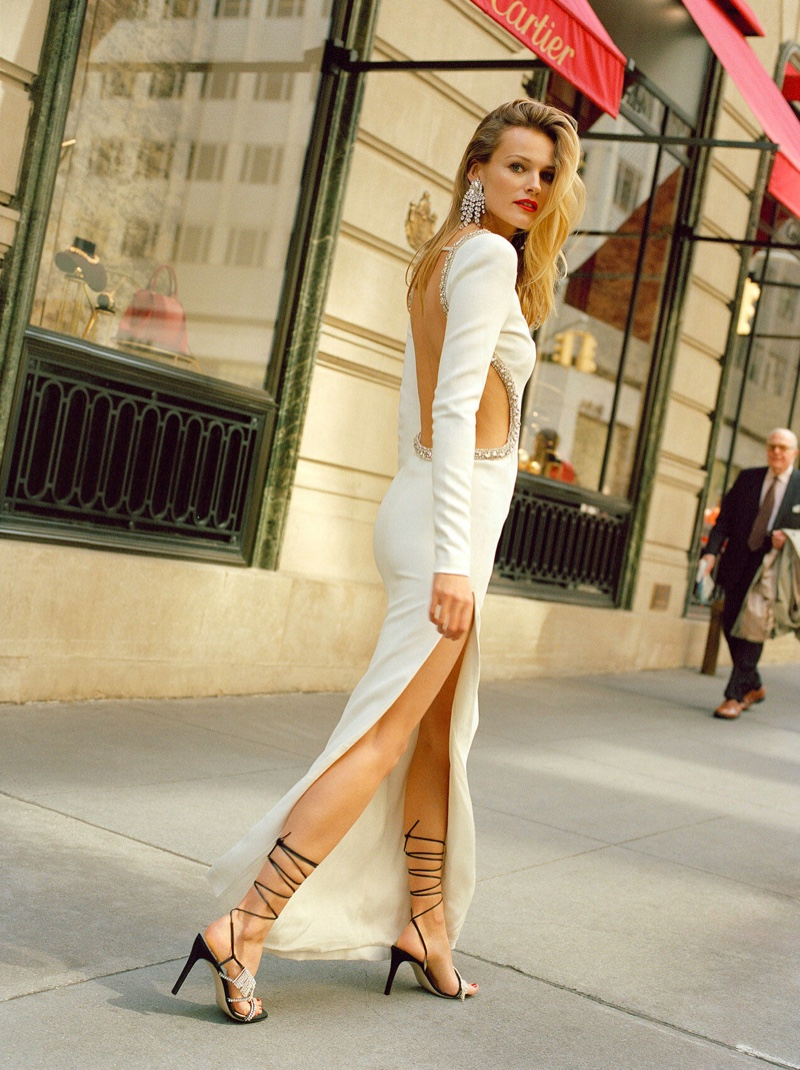 Browns features Alessandra Rich dress and earrings with Attico heels