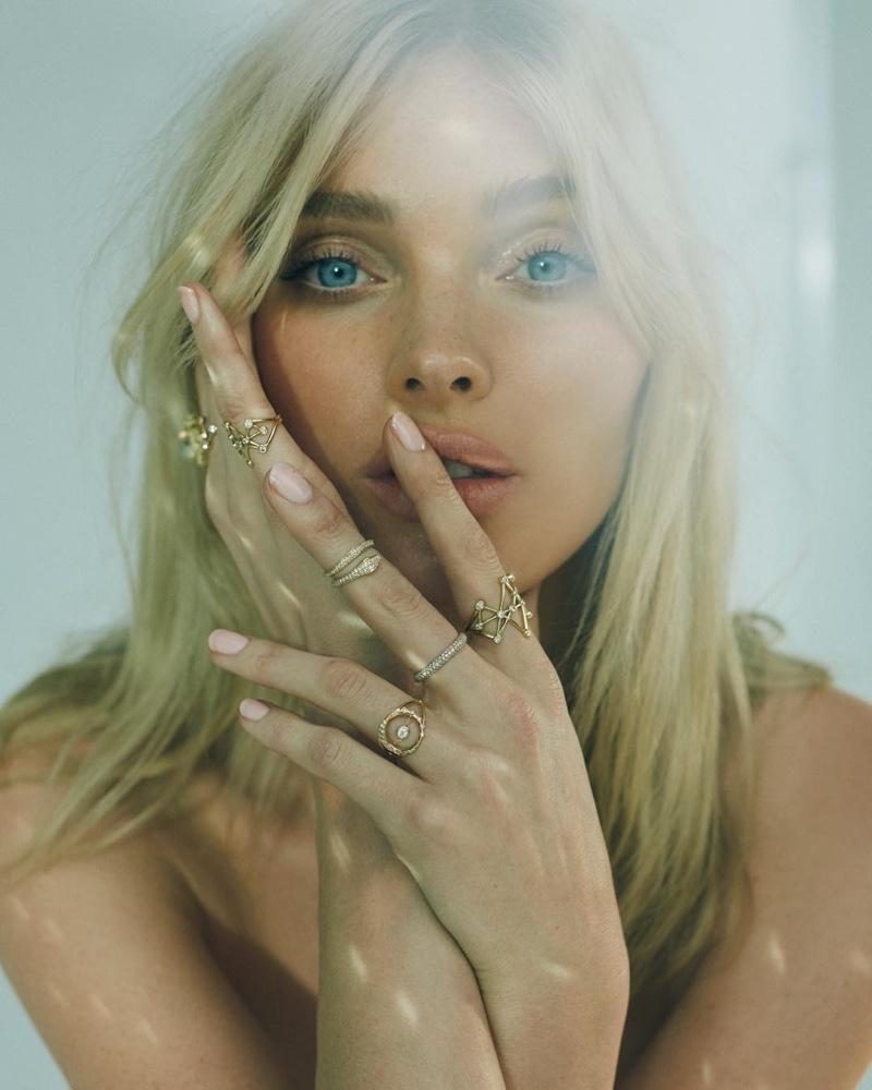 Elsa Hosk stars in Logan Hollowell 2019 jewelry campaign