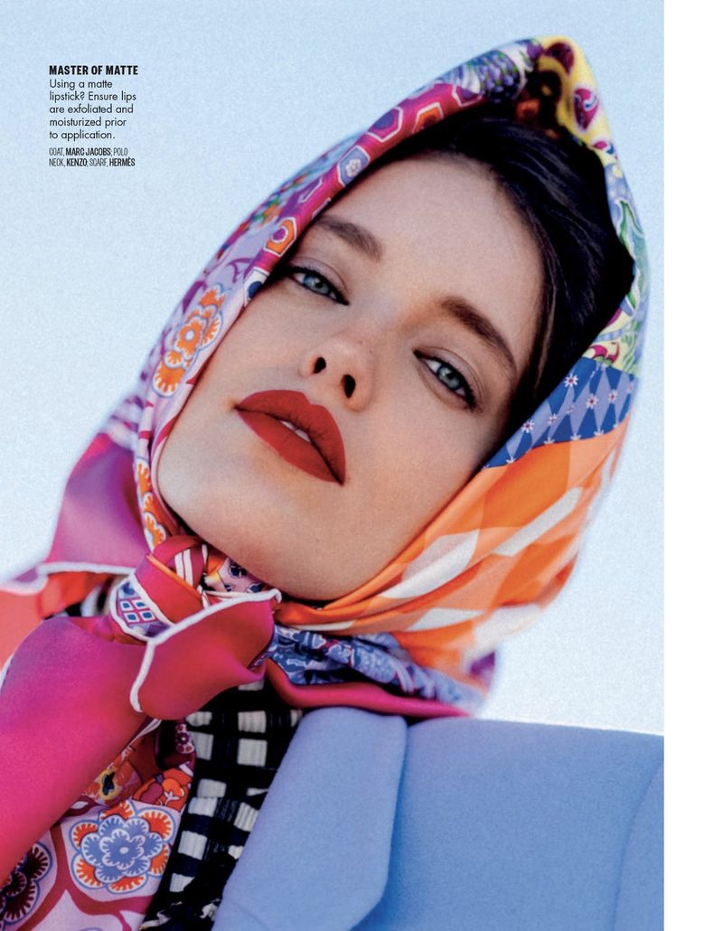 Emily DiDonato Wears Elegant Head Wraps for Vogue Arabia