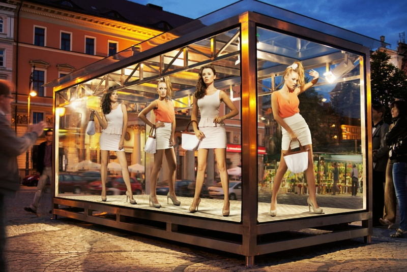 Fashion Exhibit Models Glass Case