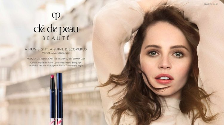 Felicity Jones stars in Clé de Peau Beauté spring-summer 2019 campaign