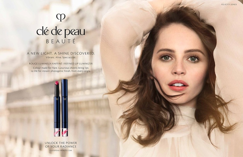 Felicity Jones stars in Clé de Peau Beauté spring-summer 2019 campaign