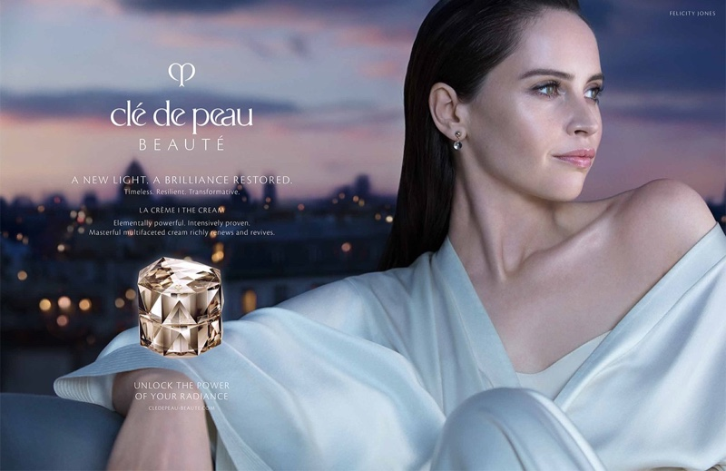 Actress Felicity Jones fronts Clé de Peau Beauté A New Light 2019 campaign