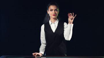 Attractive Female Casino Dealer Outfit Vest