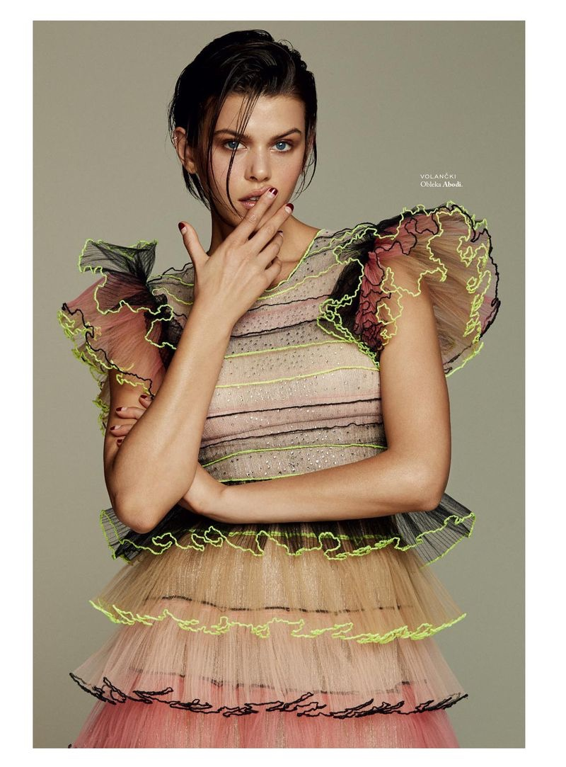Georgia Fowler Models Statement Styles for ELLE Slovenia