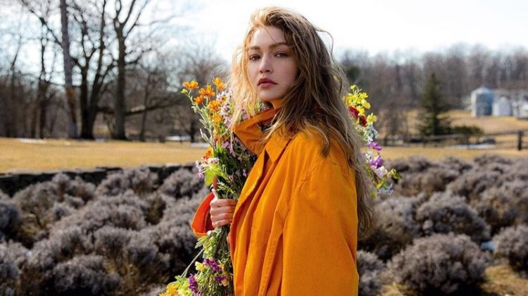 Gigi Hadid Models Farm Fashions for Vogue Czechoslovakia