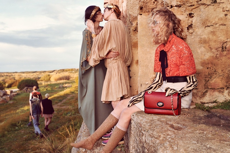 c1e030006 ... Gucci features models kissing in pre-fall 2019 campaign
