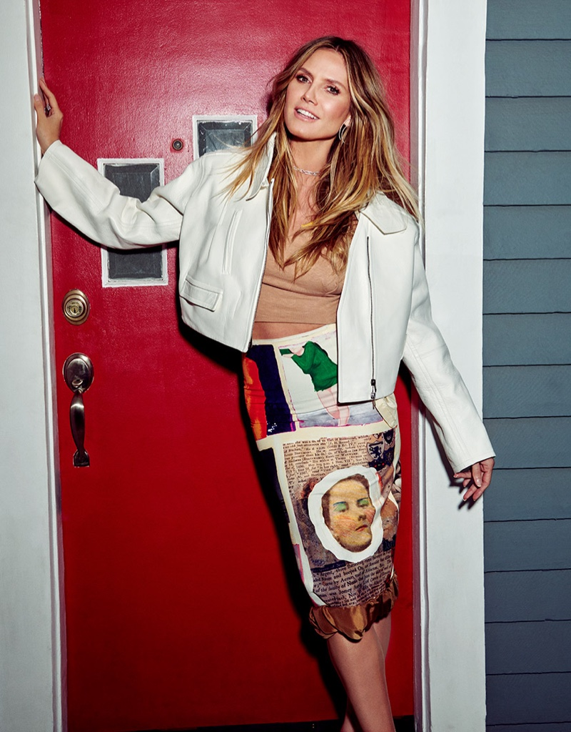 Heidi Klum Poses in Glam Outfits for InStyle Russia