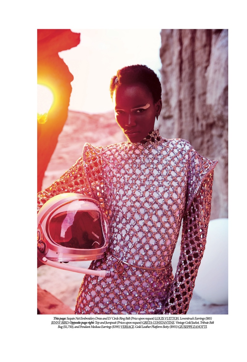 Herieth Paul Heads to Mars for Dress to Kill Magazine