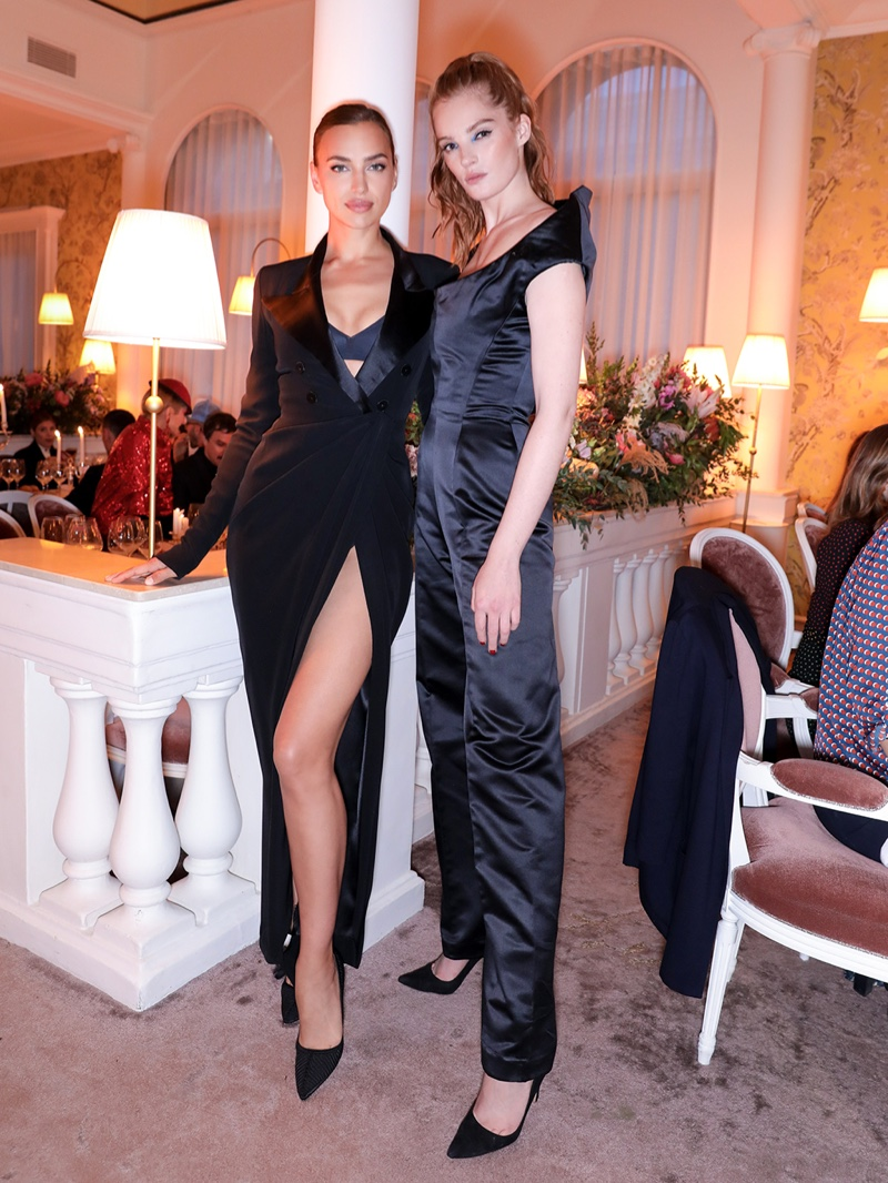 Irina Shayk & Alexina Graham at Jean Paul Gaultier Scandal Banquet event in Paris.