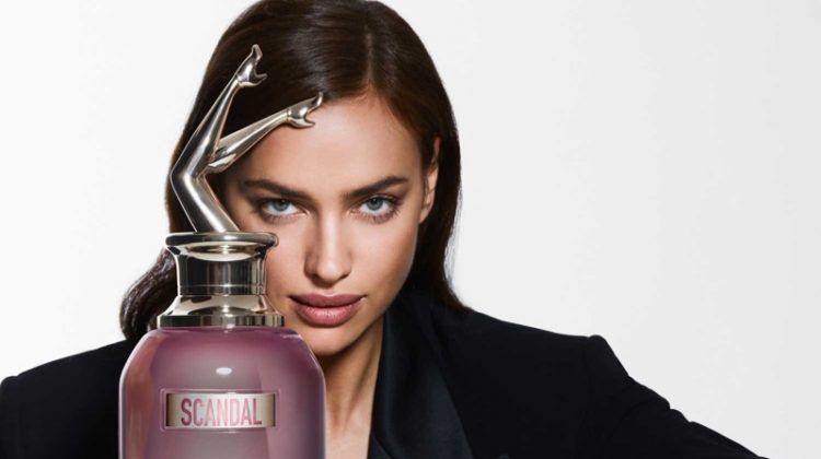 Jean Paul Gaultier enlists Irina Shayk for its Scandal a Paris fragrance campaign