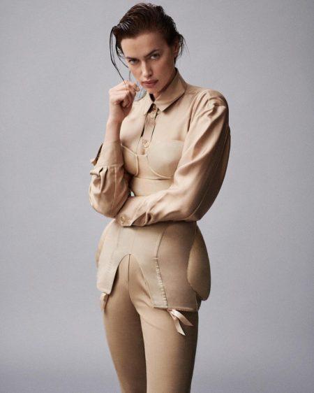 Irina Shayk Embraces Chic Neutrals for Vogue Brazil