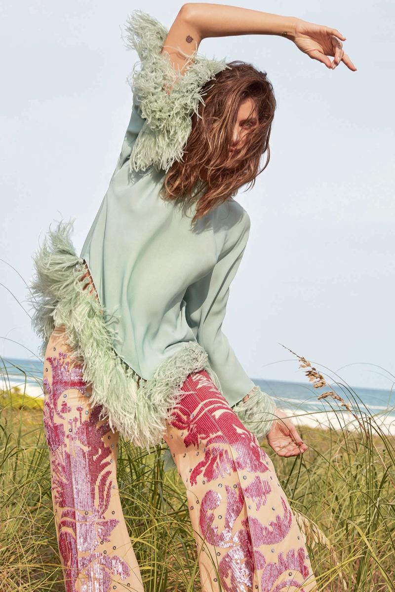 Isabeli Fontana Embraces Embellished Fashions for Alexa